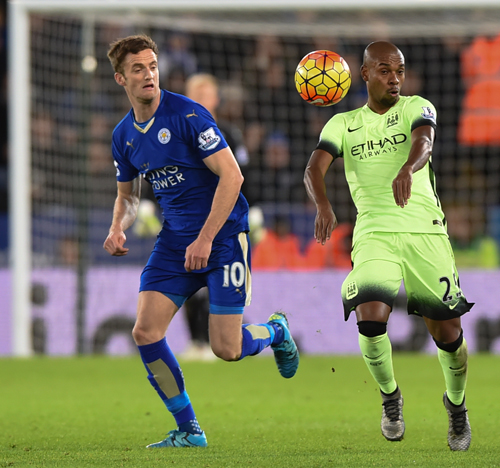 Leicester City v Manchester City, Premier League, 29 Dec 2015