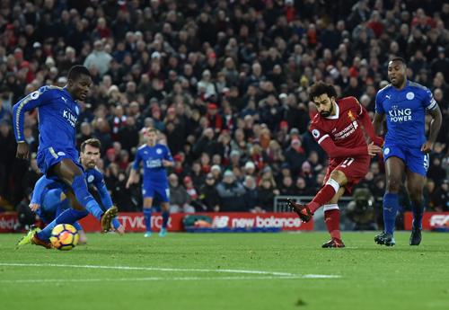 Liverpool v Leicester City, Premier League, 30 December 2017